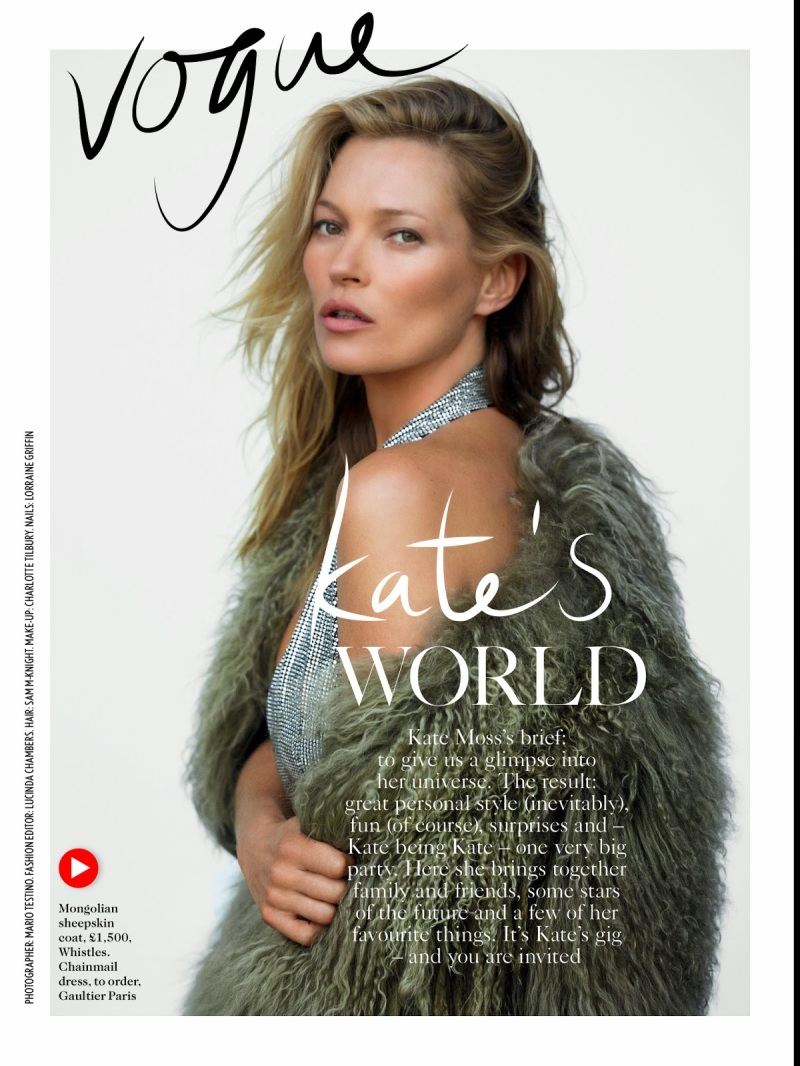 Kate Moss for Vogue UK December 2014