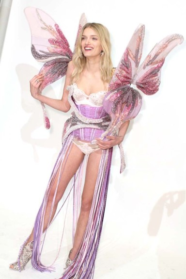 Lily Donaldson Previews a look from Victoria's Secret Fashion Show 2014